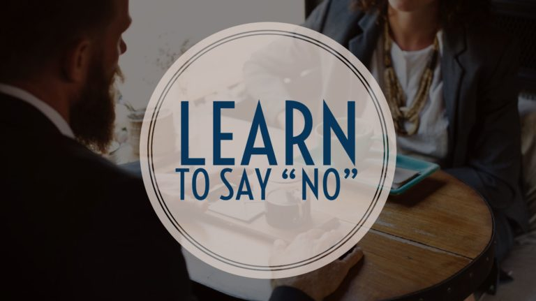 Saying No Effectively