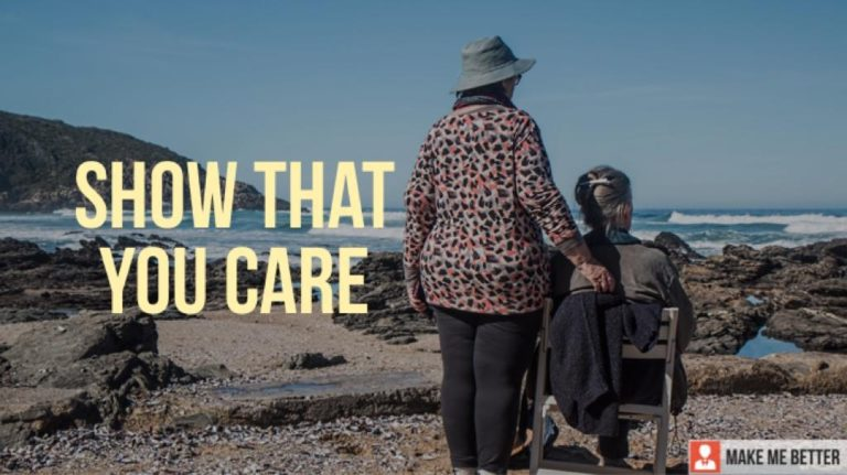 show that you care