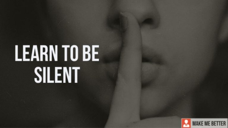 Learn to be Silent