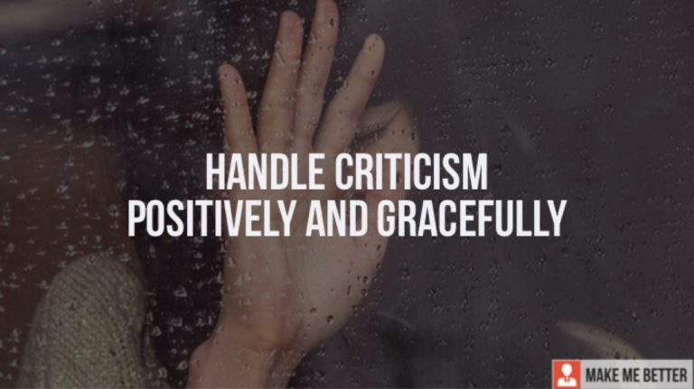 Handle Criticism Positively